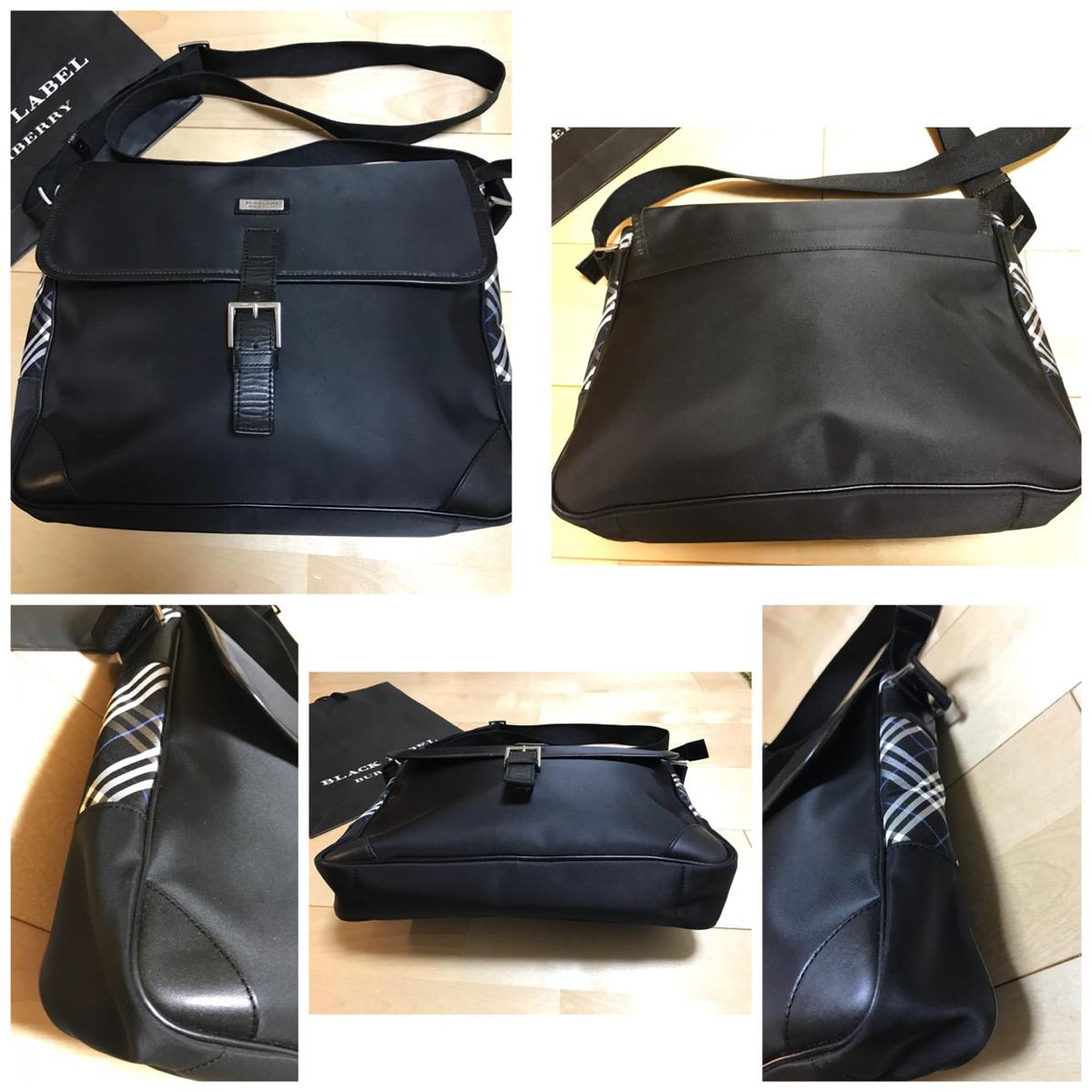 バーバリー ブラックレーベル ショルダー バッグ レア 本物 1円 blacklabel Burberry バック 鞄 ビジネス カジュアル 未使用品_画像2