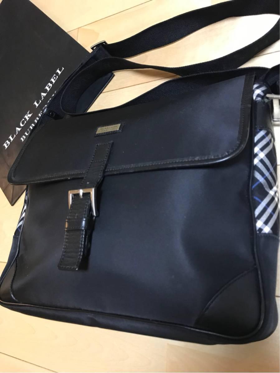 バーバリー ブラックレーベル ショルダー バッグ レア 本物 1円 blacklabel Burberry バック 鞄 ビジネス カジュアル 未使用品