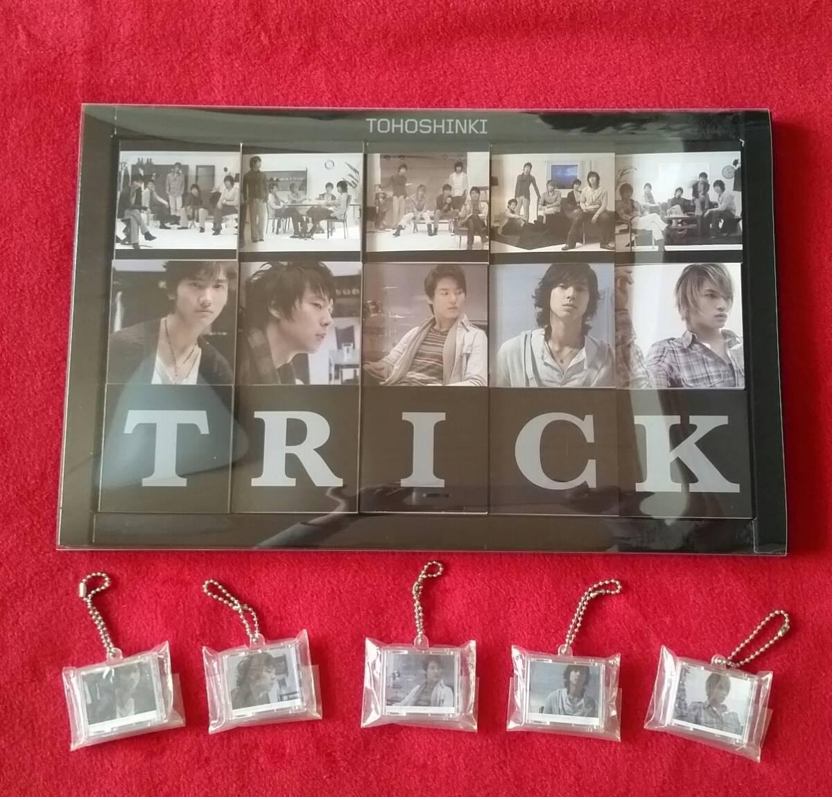 東方神起 TRICKミニメモセット 特典ステッカー付&TRICKミニチュアCDコレクション レア