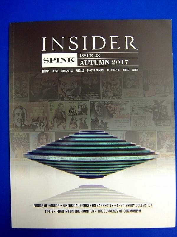 【 洋雑誌 】スピンク インサイダー SPINK INSIDER 2017年秋号 切手 コイン メダル ブック ワイン 歴史上の人物の紙幣