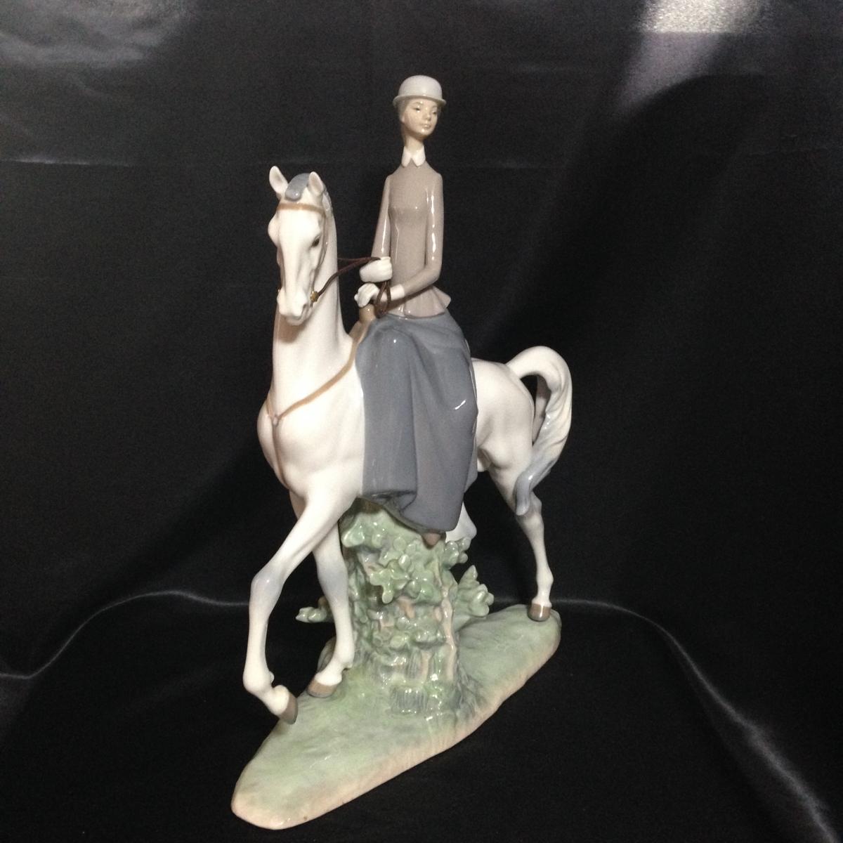 1575★リヤドロ★LLADRO★白い馬の少女★NO.4516★置物★陶器★オブジェ★インテリア★高