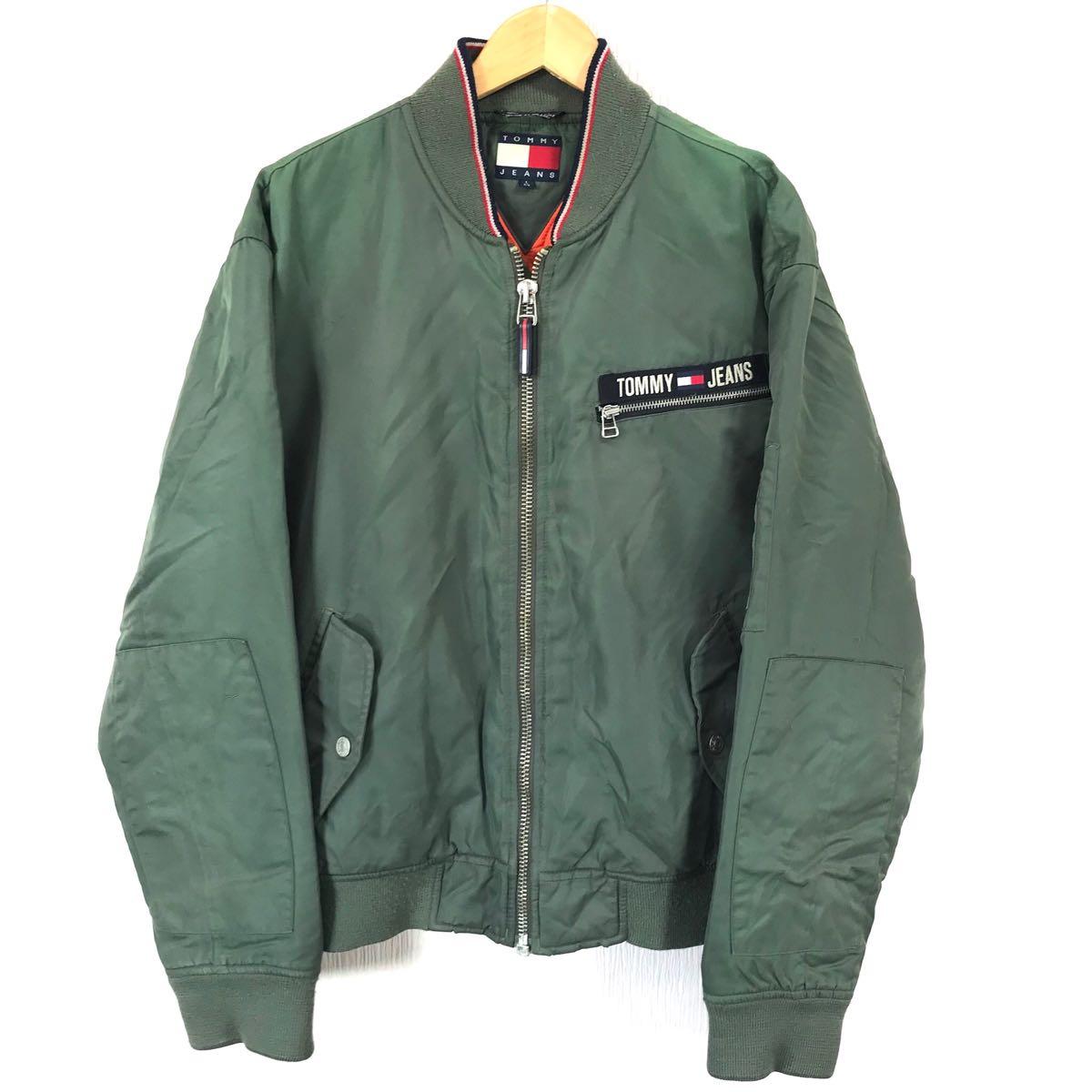 激レア 状良 90s トミージーンズ MA-1 L 緑 オリーブ HIPHOP ラップ ダンサー ストリート 三代目 Jソウル パブロウ スヌープドッグ pablow