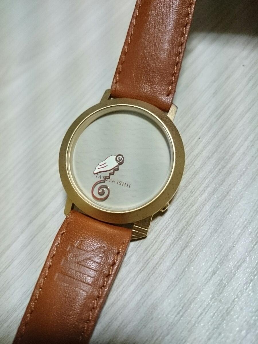 石井竜也 デザイン AZEKA 腕時計クオーツ2針 フランス製 グッズ TATUYA ISHII カールスモーキー石井 米米クラブ リストウォッチ ノベルティ