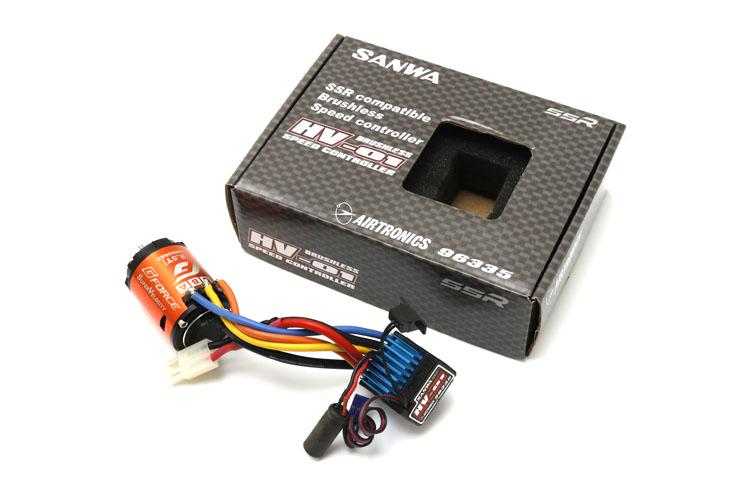 サンワHV-01+GForce Super Velocity 8.5T センサードブラシレスモーターアンプ セット