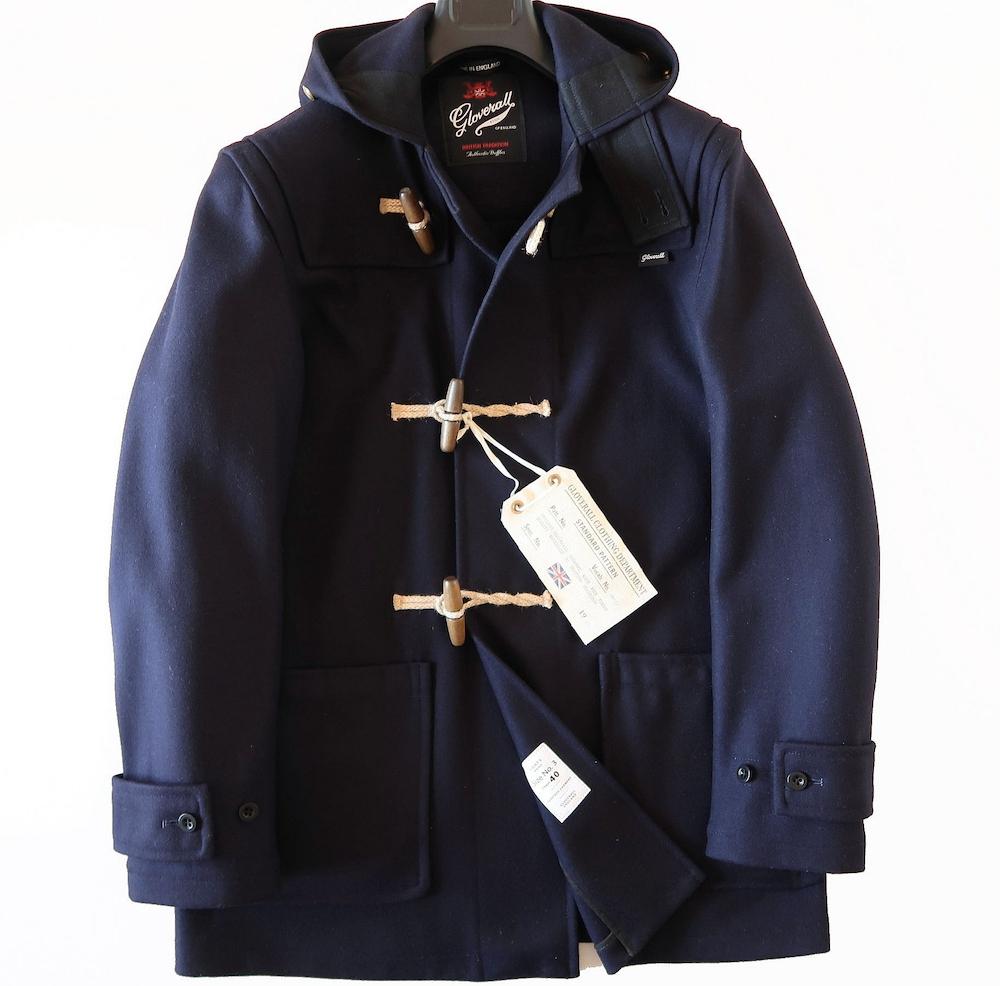 新品◆GLOVERALLグローバーオール◆イングランド製メルトンウール本格ダッフルコートUK40濃紺◆本物