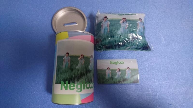 神の手 限定 TIF 2017 Negicco お楽しみ缶 ミニクッション アーティストカード 貯金箱