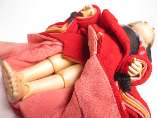 ☆佐野景子作 桐塑紙貼 三つ折れ人形 共箱 創作衣装人形_画像5