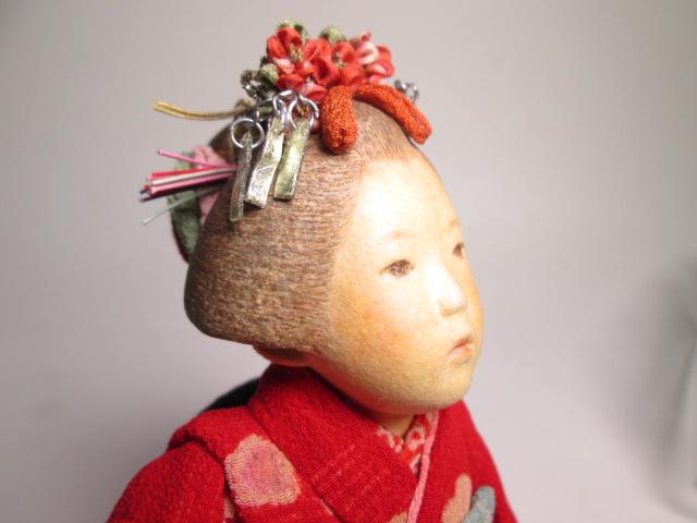 ☆佐野景子作 桐塑紙貼 三つ折れ人形 共箱 創作衣装人形_画像4