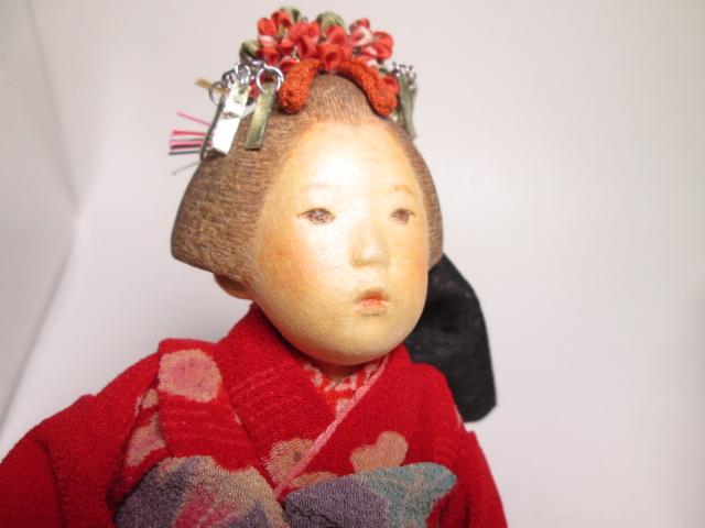 ☆佐野景子作 桐塑紙貼 三つ折れ人形 共箱 創作衣装人形_画像3