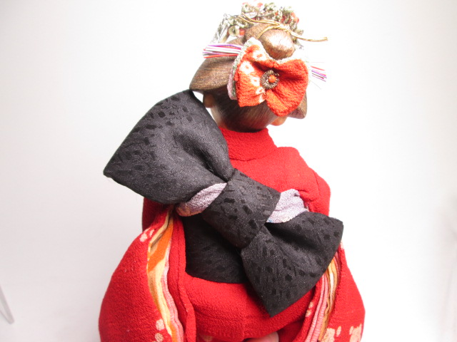 ☆佐野景子作 桐塑紙貼 三つ折れ人形 共箱 創作衣装人形_画像10
