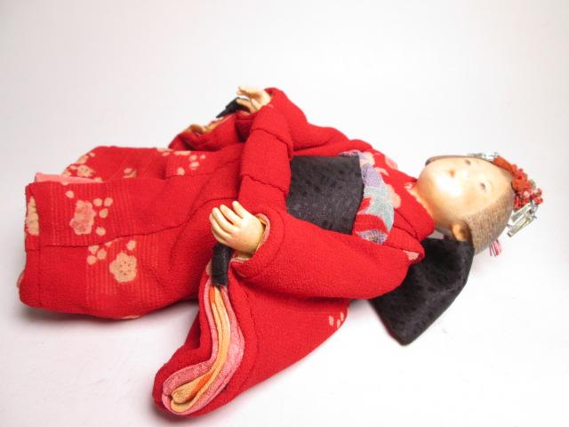 ☆佐野景子作 桐塑紙貼 三つ折れ人形 共箱 創作衣装人形_画像8
