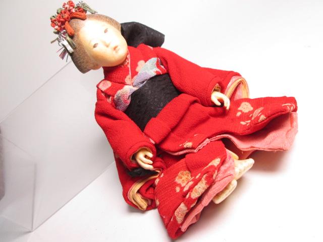 ☆佐野景子作 桐塑紙貼 三つ折れ人形 共箱 創作衣装人形_画像7