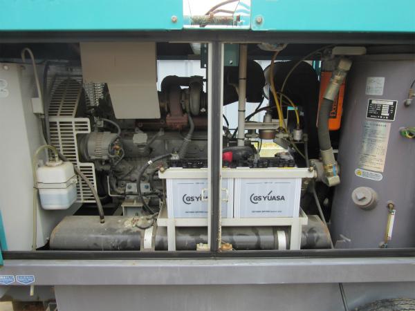 DENYO デンヨー エンジン コンプレッサー DIS-390ES ディーゼル 大型 コンプレッサ_画像7