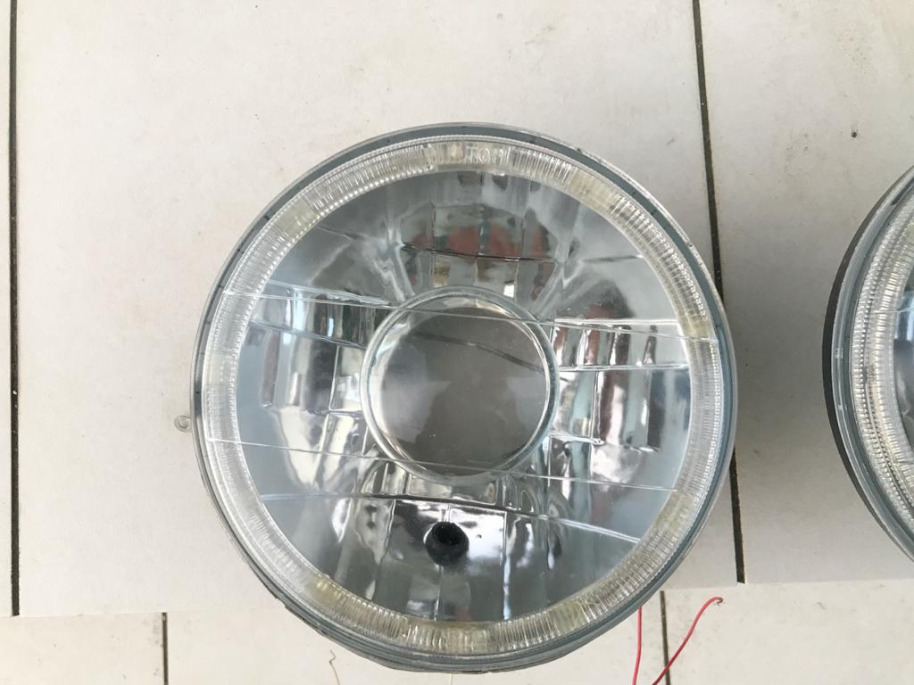 1円スタート!! ジムニー JA11 ヘッドライト イカリング プロジェクター マルチリフレクター 1ヶ月程度使用_画像2