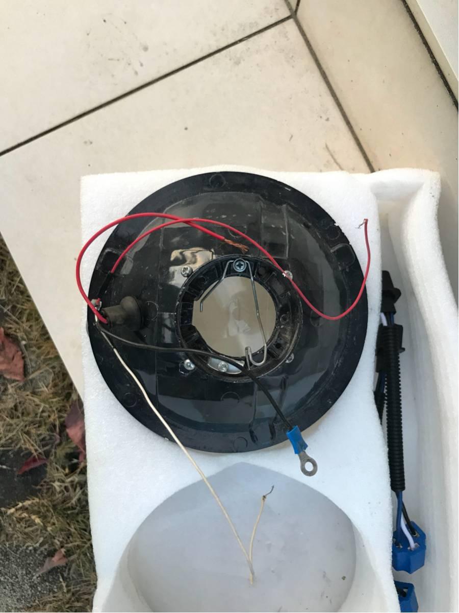 1円スタート!! ジムニー JA11 ヘッドライト イカリング プロジェクター マルチリフレクター 1ヶ月程度使用_画像3