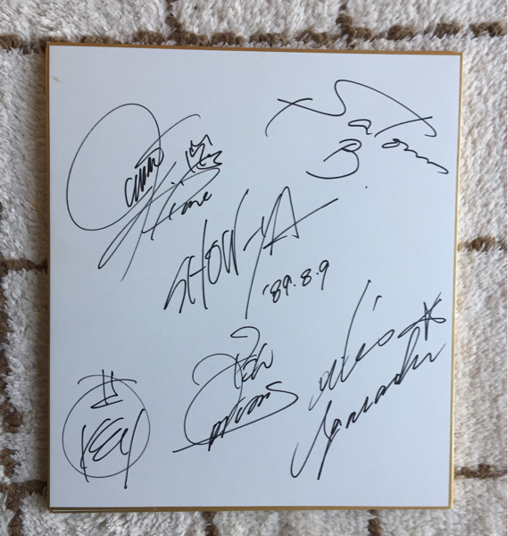 ◆ SHOW-YA(ショーヤ)直筆サイン色紙◆