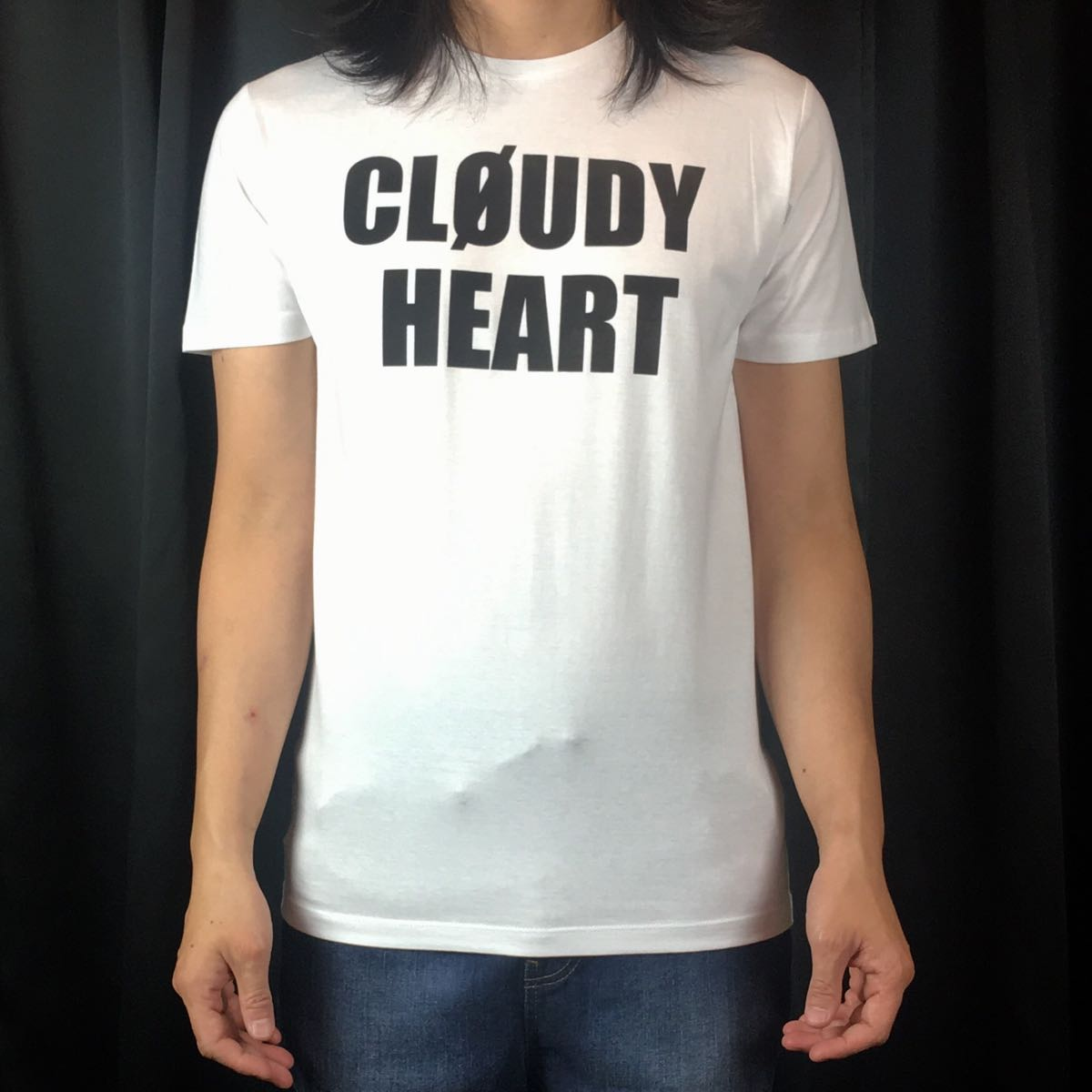 新品 BOOWY ボウイ CLOUDY HEART Tシャツ S M L XL 氷室京介 布袋寅泰 大きい ビッグ オーバーサイズ XXL 3XL 4XL 5XL ロンT 長袖 黒 対応