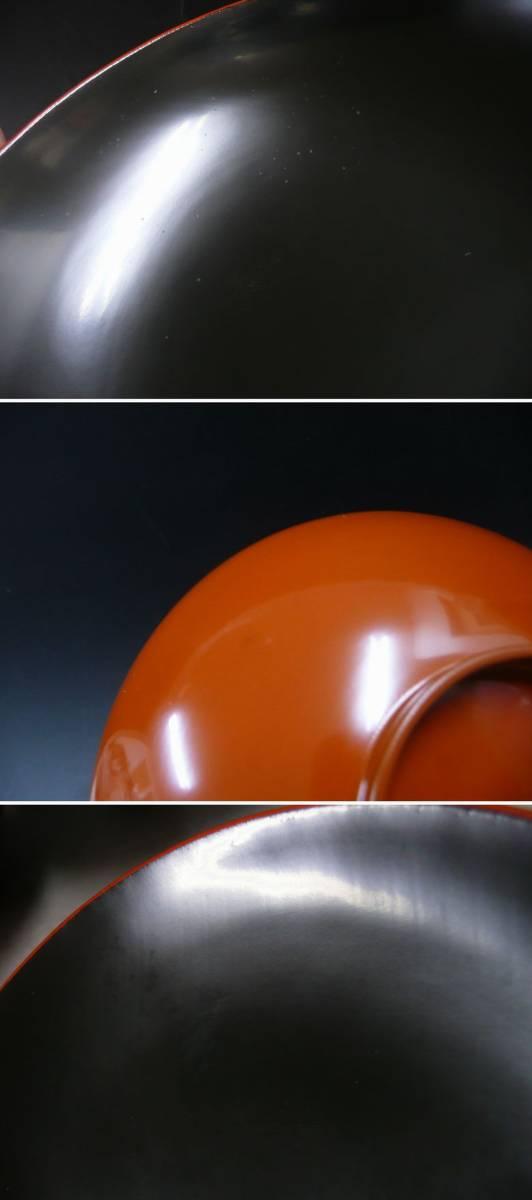 ◆送料込み即決324◆時代物 能登 本輪島塗 大極上本堅地 縁金蒔絵 螺鈿 蜻蛉蛍吊灯籠紋様 蓋付木椀5客 木製塗物工芸品漆器◆_画像8