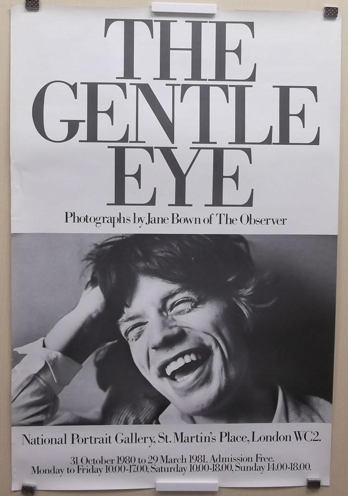 THE GENTLE EYE」JANE BOWEN EXHIBITION ポスター/ミック・ジャガー Mick Jagger