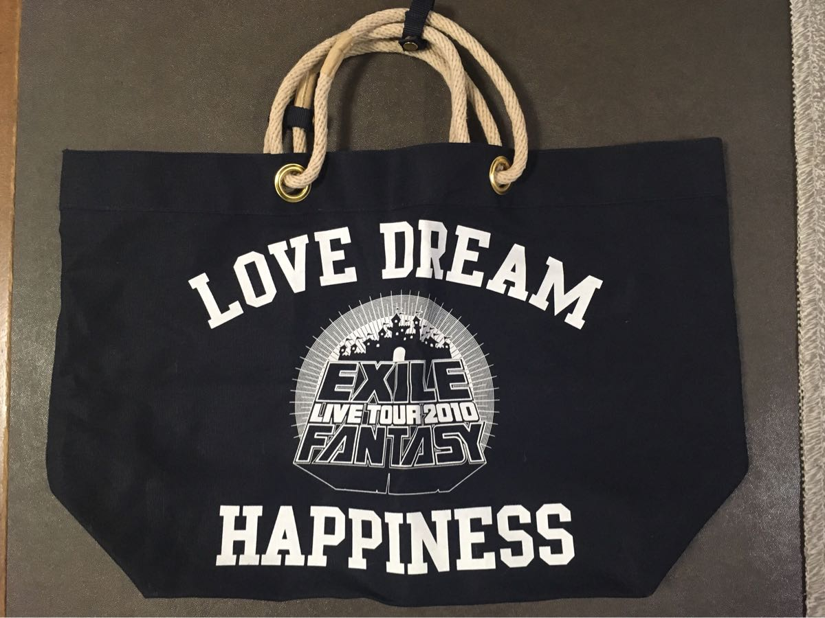 EXILE LIVE TOUR 2010 トートバッグ LOVE DREAM HAPPINES ATSUSHI TAKAHIRO