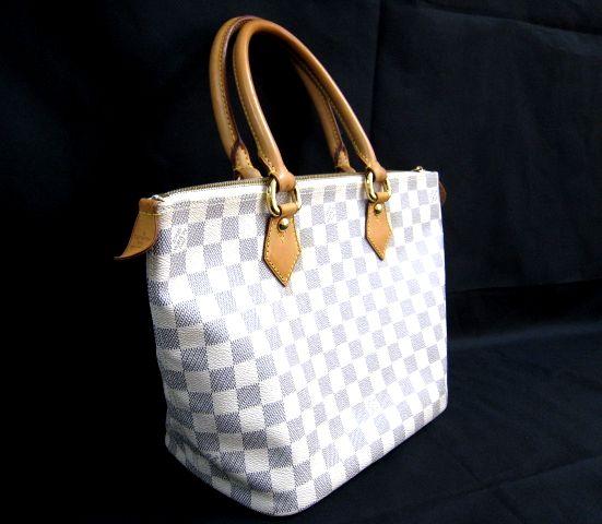 ルイ ヴィトン LOUIS VUITTON ダミエアズール ホワイト系 ハンドバッグ かばん トートバッグ 保存袋付 VI2097  001758-i02y_画像2