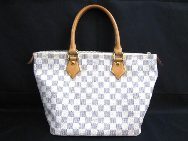 ルイ ヴィトン LOUIS VUITTON ダミエアズール ホワイト系 ハンドバッグ かばん トートバッグ 保存袋付 VI2097  001758-i02y