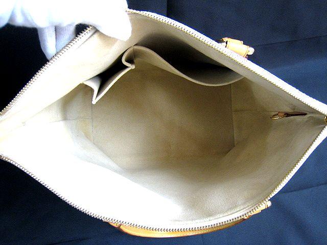 ルイ ヴィトン LOUIS VUITTON ダミエアズール ホワイト系 ハンドバッグ かばん トートバッグ 保存袋付 VI2097  001758-i02y_画像8