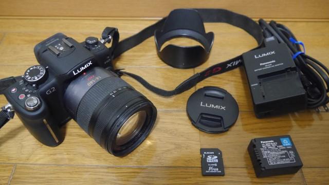 LUMIX DMC-G2_ブラック レンズLUMIX G VARIO HD 14-140mm 16GB_SDカード