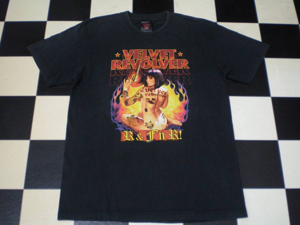 VELVET REVOLVER ヴェルヴェット・リヴォルヴァー R&F'NR 04-05 Tシャツ Lサイズ Guns N' Roses Stone Temple Pilots Motley Crue skid row