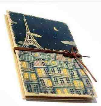 おしゃれ エッフェル塔 パリの夜空 アコーディオンタイプのフォトアルバム ブラック ct-652