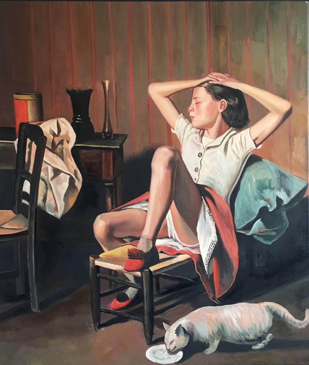 夢見るテレーズ バルテュス◎◎『夢見るテレーズ』◎1938年◎肉筆画/油彩画