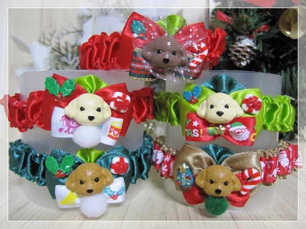 ★送料無料★ Mサイズ *テディベアプードル*クリスマスシュシュネックレス【スリムタイプ】5本セット #犬 #トリミング #ネックレス M2_画像2