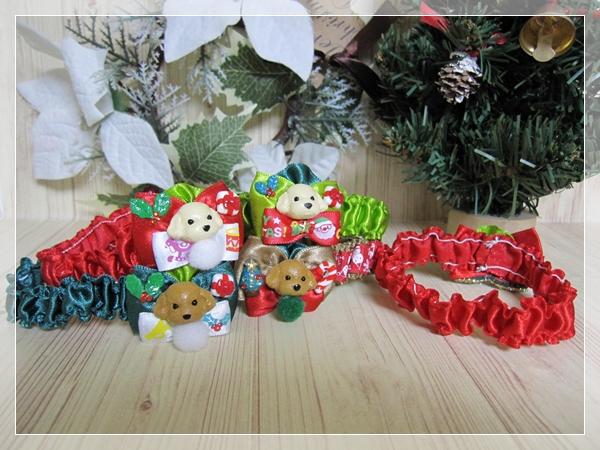 ★送料無料★ Mサイズ *テディベアプードル*クリスマスシュシュネックレス【スリムタイプ】5本セット #犬 #トリミング #ネックレス M2_画像3