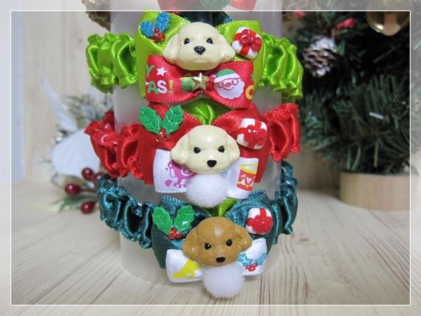 ★送料無料★ Mサイズ *テディベアプードル*クリスマスシュシュネックレス【スリムタイプ】5本セット #犬 #トリミング #ネックレス M2_画像5