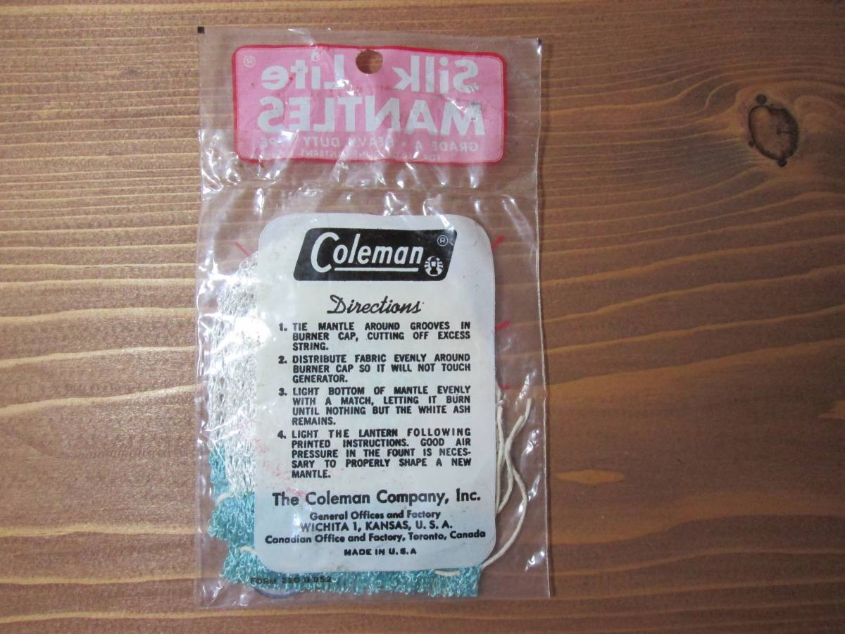 希少、耐久性★Coleman コールマン ランタン 純正 マントル 2枚 長持ち★ビンテージ 200 200A 202_画像2