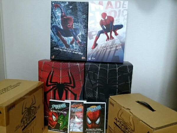 スパイダーマン ホットトイズ4体DVDセット グッズの画像