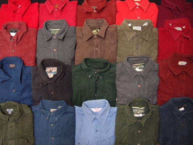 ◆古着卸USA■無地ヘビーフランネルシャツ20枚セット★★★L シャモアクロス アウトドアブランド他 アメリカ直輸入