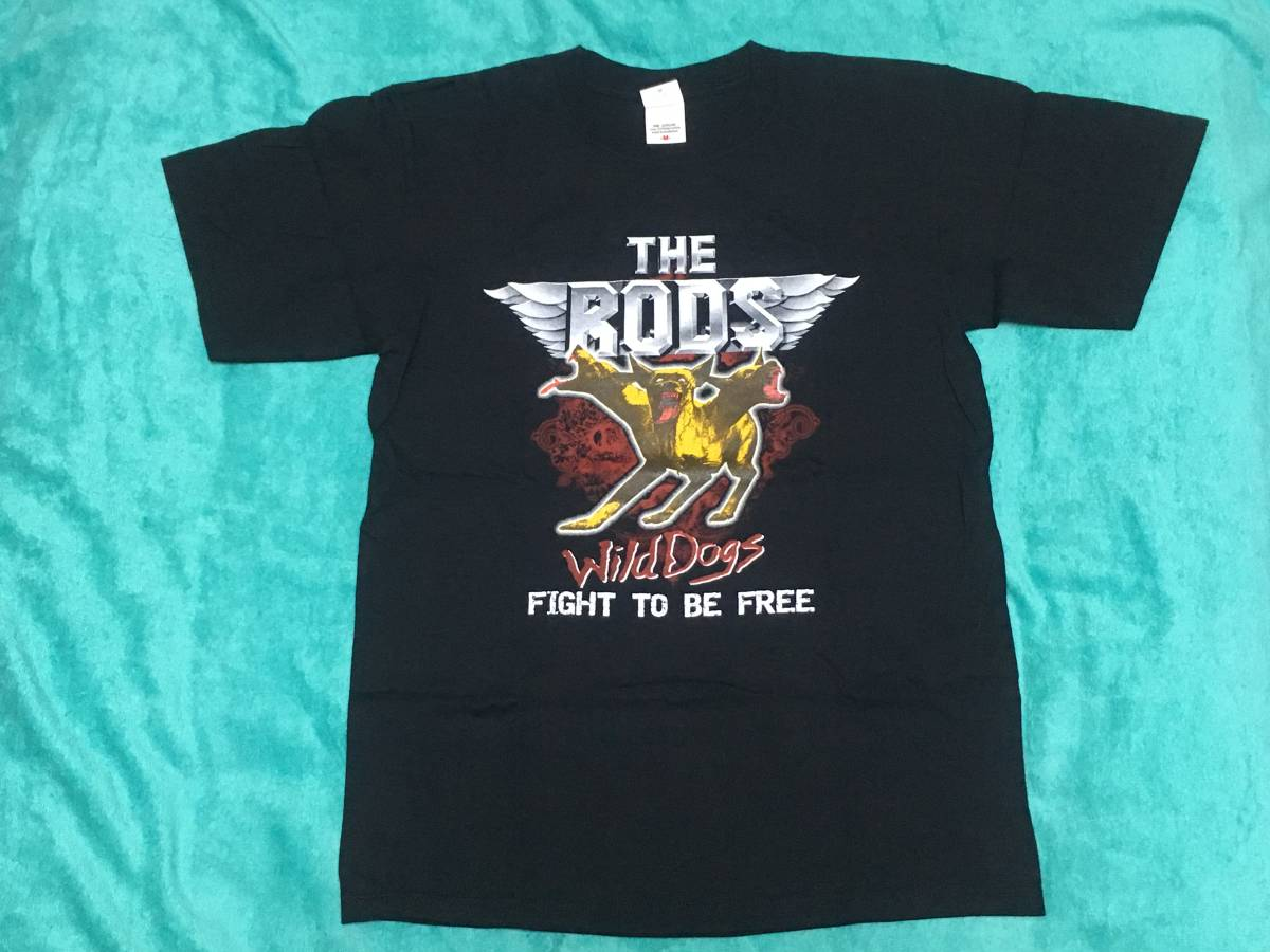 THE RODS ザ・ロッズ 古着 Tシャツ M バンドT ロックT ツアーT Wild Dogs Anthrax Y&T Exciter