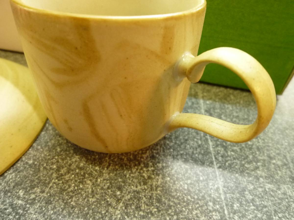 未使用【有田焼 5客セット ねりこみ】カップ&ソーサ 高級ねりこみ 土と炎 珈琲 コーヒーカップ 茶 マーブル_画像4