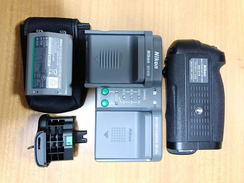 ★9コマ連射★ニコン D850用純正品 バッテリーグリップMD-B18+充電器MH-26aAK+バッテリーEN-EL18b+バッテリー室カバーBL-5 セット Nikon