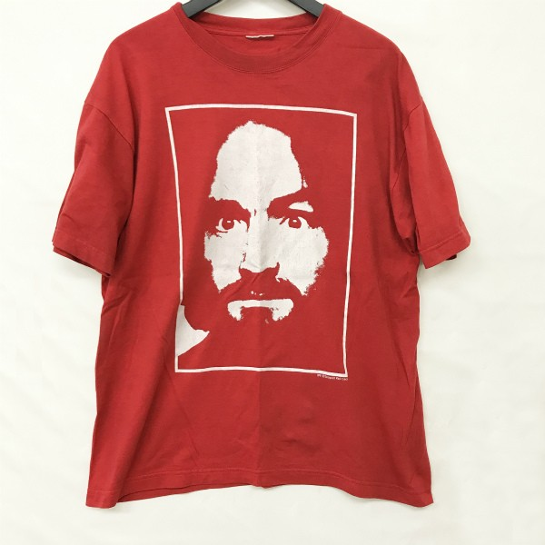 90s ヴィンテージ Charles Manson Tシャツ(検索 マンソン zooportコピーライト ガンズ G