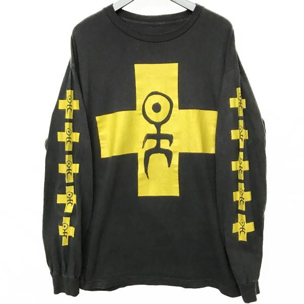 ヴィンテージ ノイバウテン ロンT Tシャツ(検索 Einstrzende Neubauten 90s 袖プリント ミニストリー NIN DAF マリリンマンソン 好きに