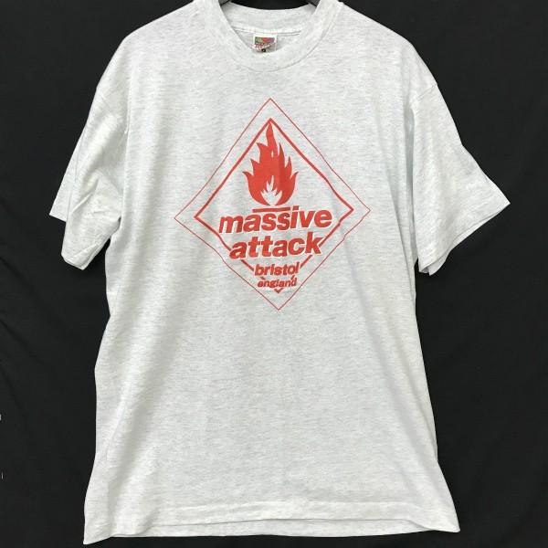 90s USA製 ヴィンテージ Massive Attack Tシャツ(検索 マッシブアタック gimme5 wildbunch ブリストル kiyonaga&co 好きに