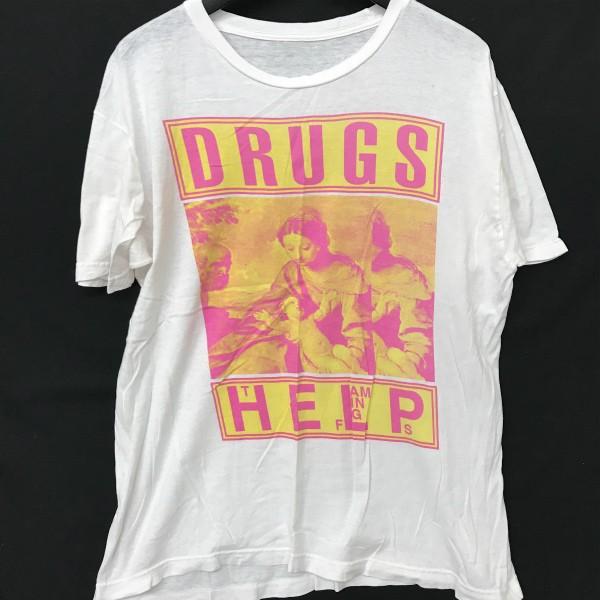 USED FLAMING LIPS Tシャツ(検索 フレーミングリップス グランジ サイケ nirvana sonicyouth カートコバーン ニルバーナ好きに