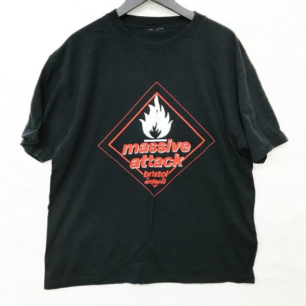 90s ヴィンテージ MASSIVE ATTACK Tシャツ(検索 マッシブアタック bristol wildbunch kiyonaga gimme5 five daddy g