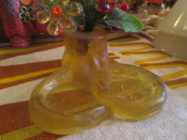 貴重★70's 花の置物 フラワー樹脂 USA Antiqueアンティーク/アメリカ雑貨キノコヒッピーイギリス蚤の市ブロカントレトロボタニカル_画像5