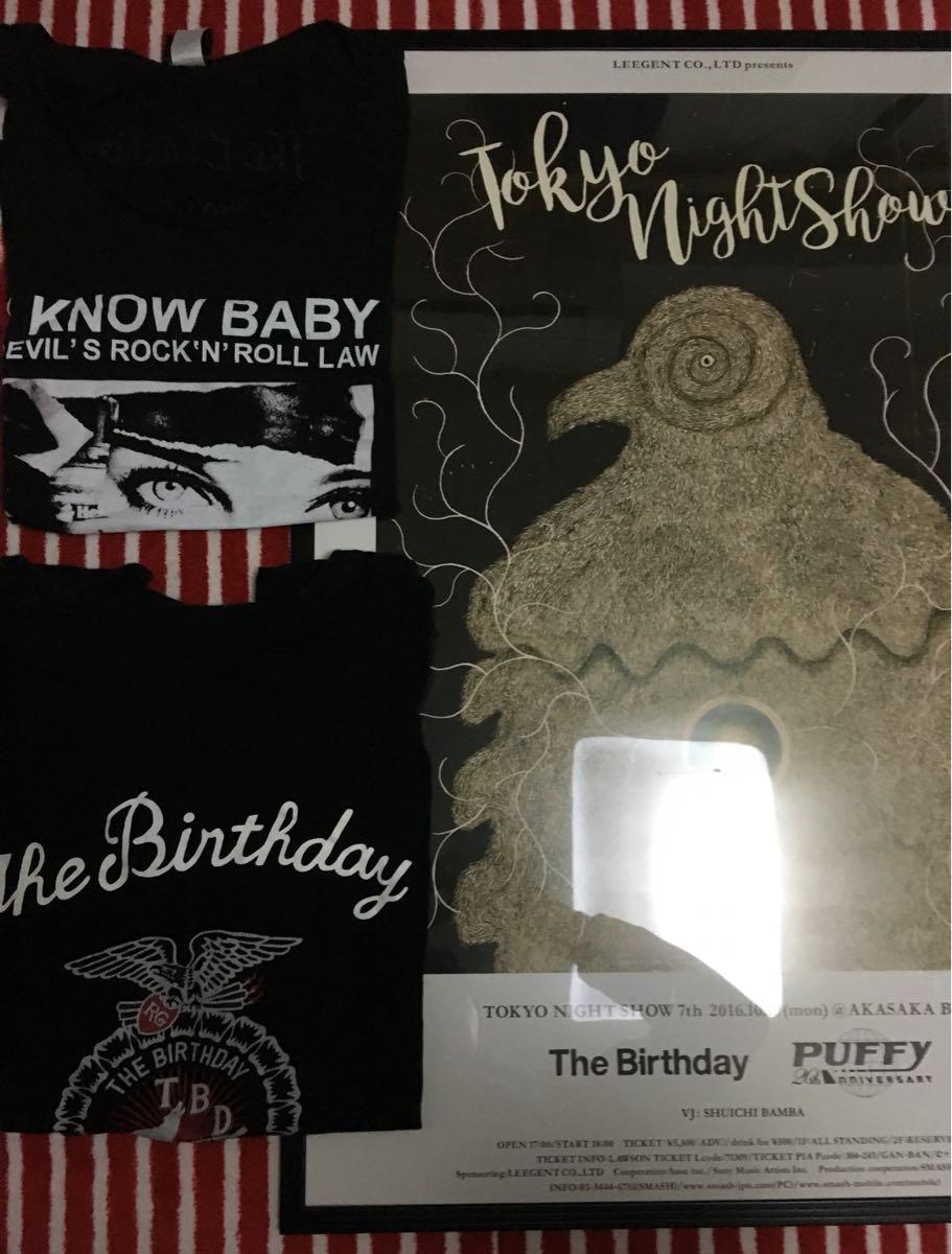 the birthday Tシャツとポスター TOKYO NIGHT SHOW PUFFY