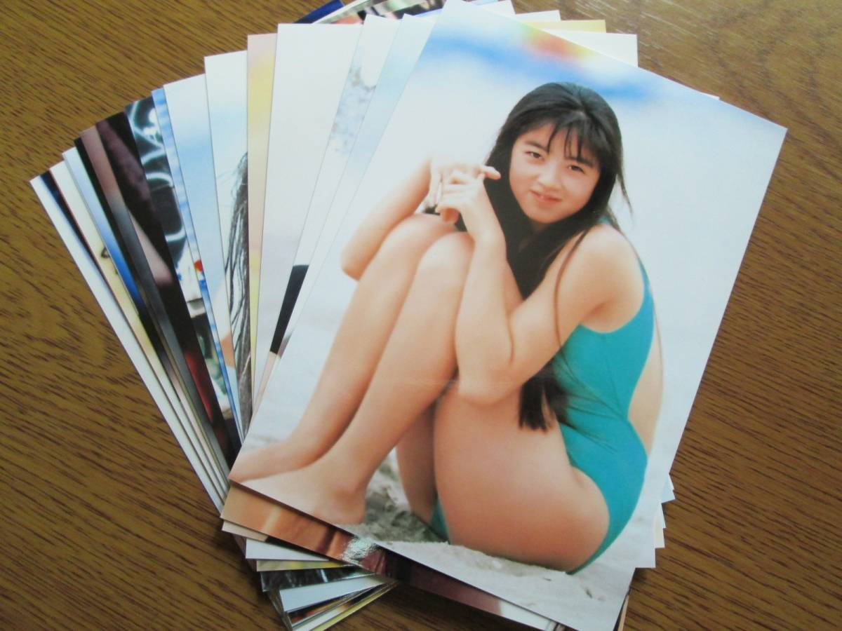 ≪高岡早紀≫ まとめ売り L判サイズ写真 【17枚セット】
