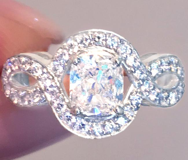《DIAMOND 1ctUP!!》PT900 ダイヤモンド 1.002ct! ラディアントカット リング 検 リリークラスター HARRY WINSTON