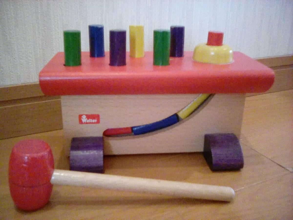 手渡しok 木のおもちゃ  大工さん ヴァルター社(ニック社)☆ 知育玩具 used お誕生日プレゼント クリスマス
